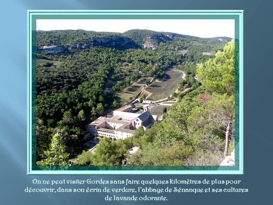 On ne peut visiter Gordes sans faire quelques kilomètres de plus pour découvrir, dans son écrin de verdure, l'abbaye de Sénanque et ses cultures de lavande odorante.