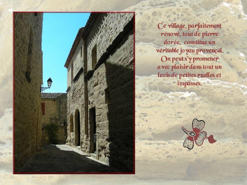 Ce village, parfaitement rénové, tout de pierre dorée, constitue un véritable joyau provençal.