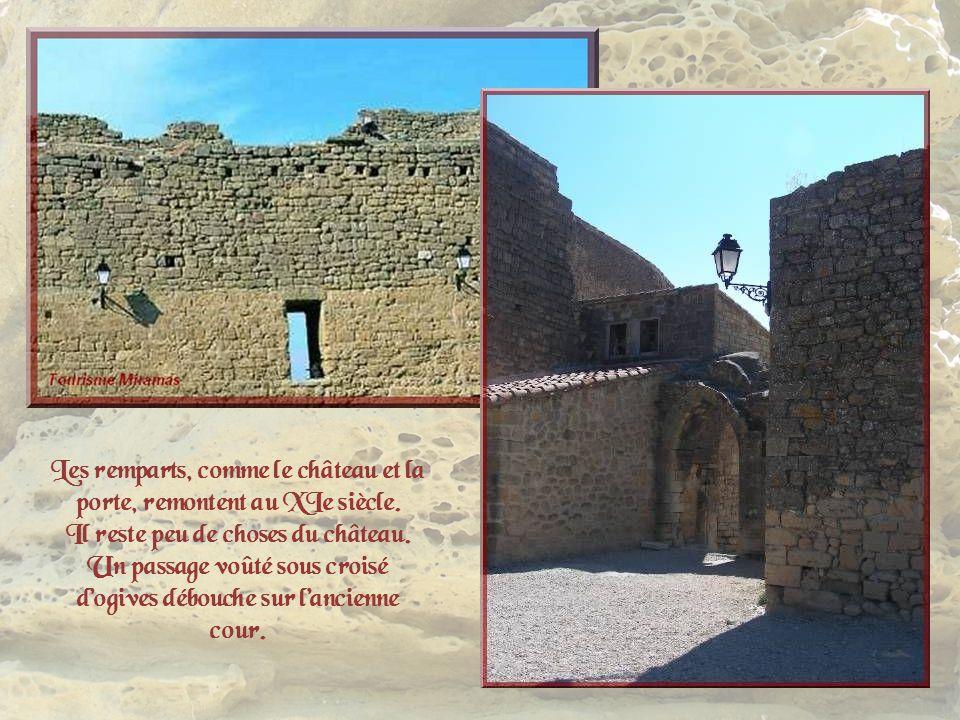 Les remparts, comme le château et la porte, remontent au XIe siècle.