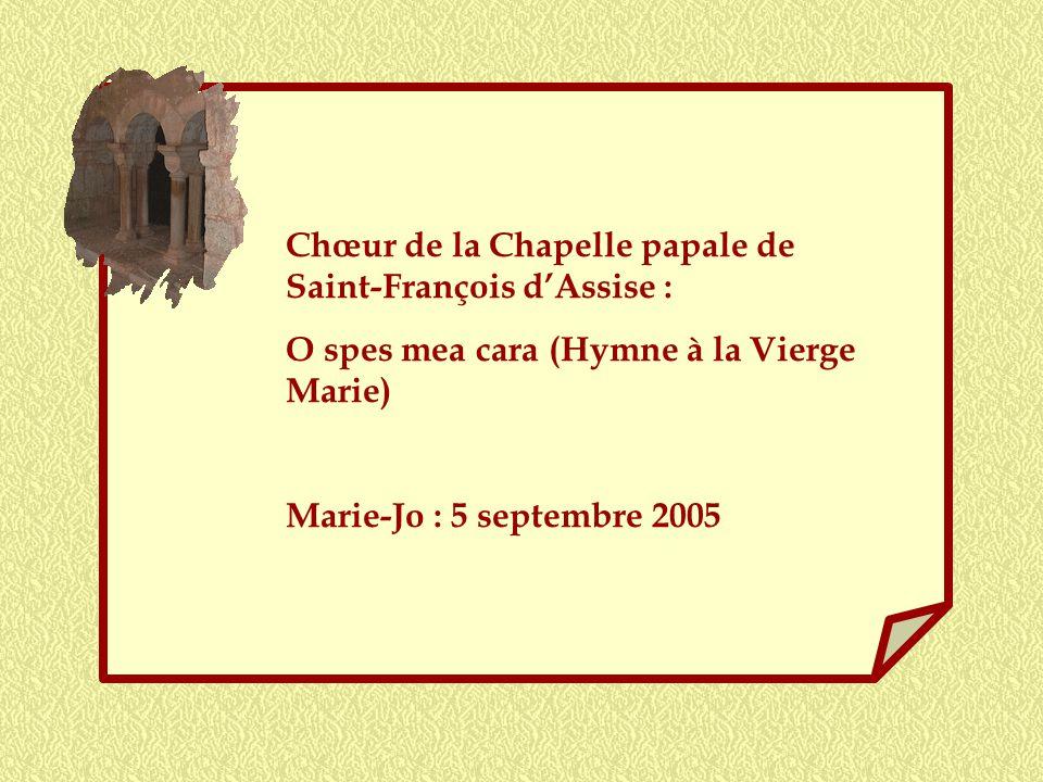 Chœur de la Chapelle papale de Saint-François d'Assise :