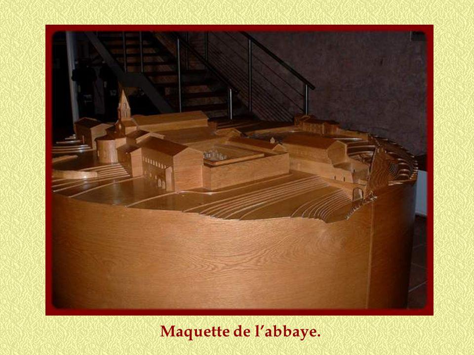 Maquette de l'abbaye.
