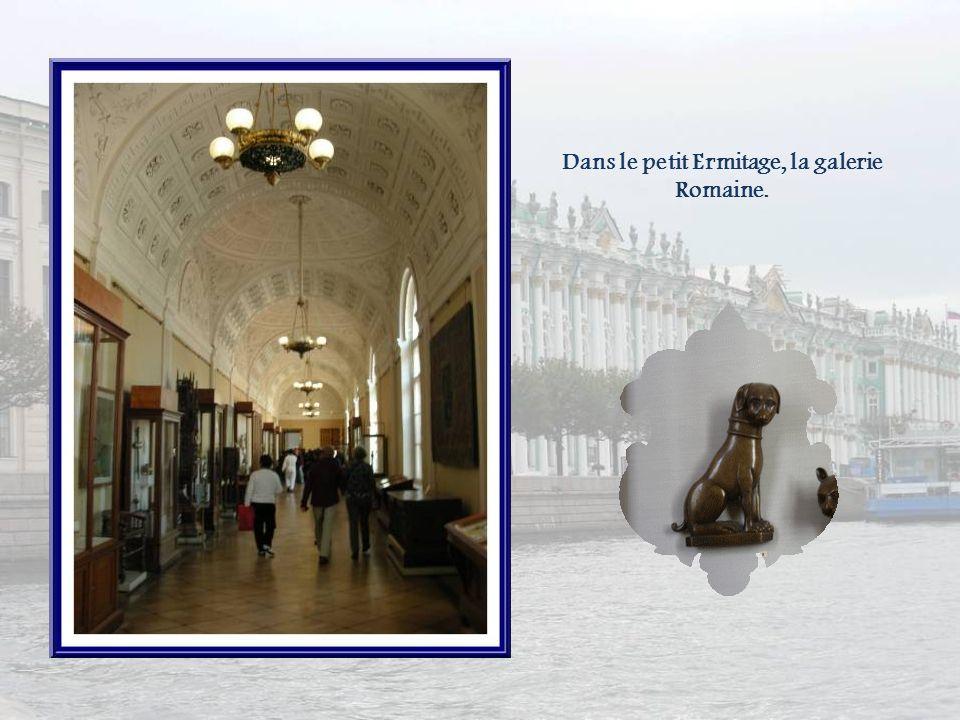 Dans le petit Ermitage, la galerie Romaine.