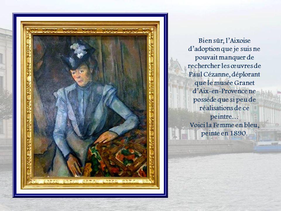 Voici la Femme en bleu, peinte en 1890.