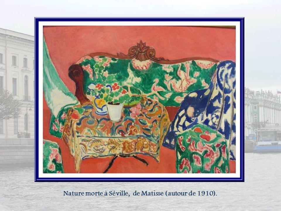 Nature morte à Séville, de Matisse (autour de 1910).