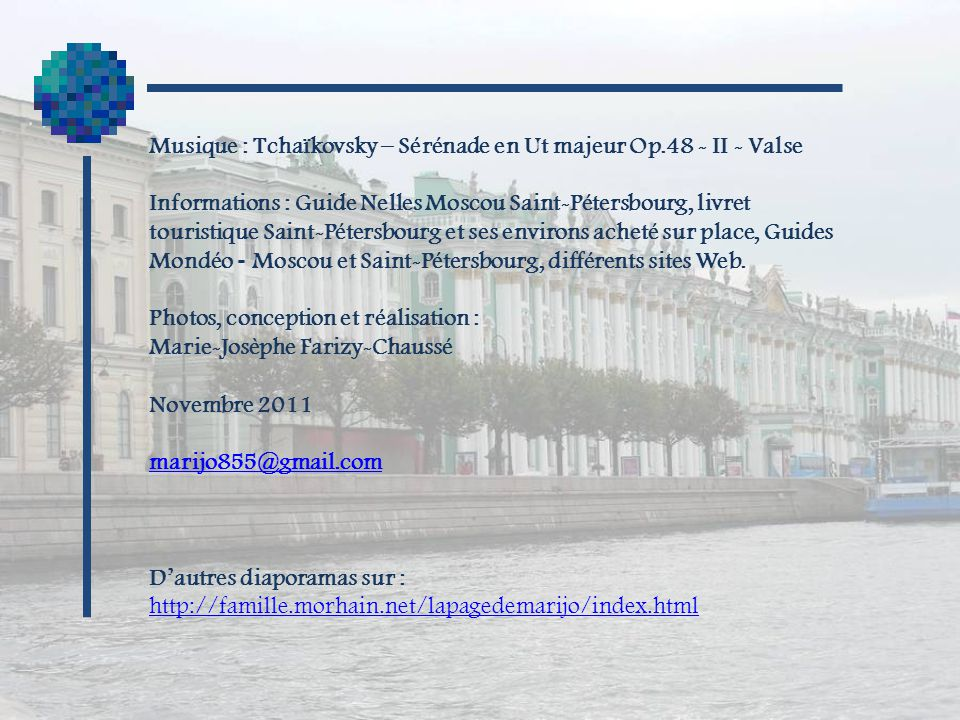 Musique : Tchaïkovsky – Sérénade en Ut majeur Op.48 - II - Valse