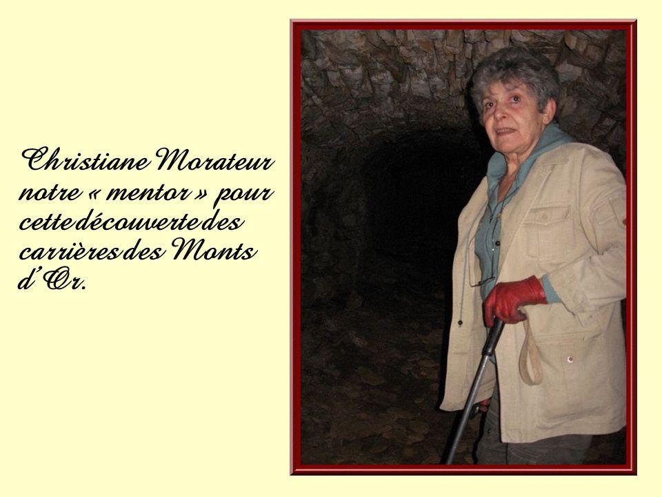Christiane Morateur notre « mentor » pour cette découverte des carrières des Monts d'Or.