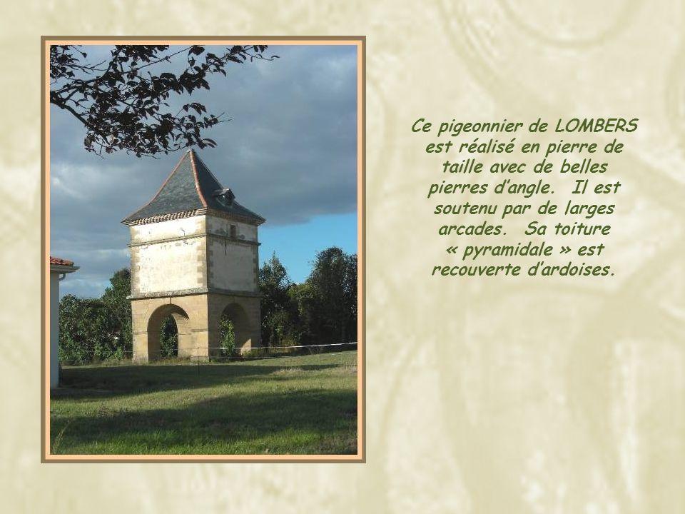 Ce pigeonnier de LOMBERS est réalisé en pierre de taille avec de belles pierres d'angle.