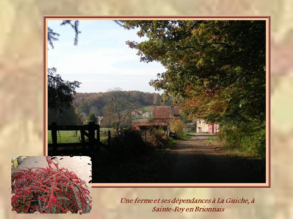 Une ferme et ses dépendances à La Guiche, à Sainte-Foy en Brionnais