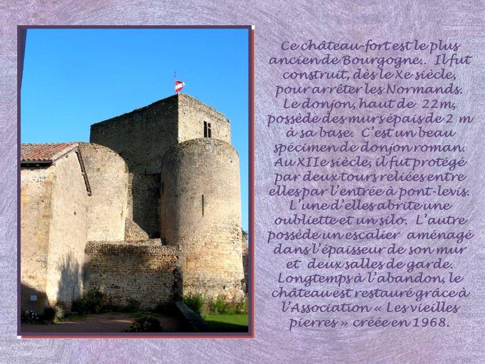 Ce château-fort est le plus ancien de Bourgogne