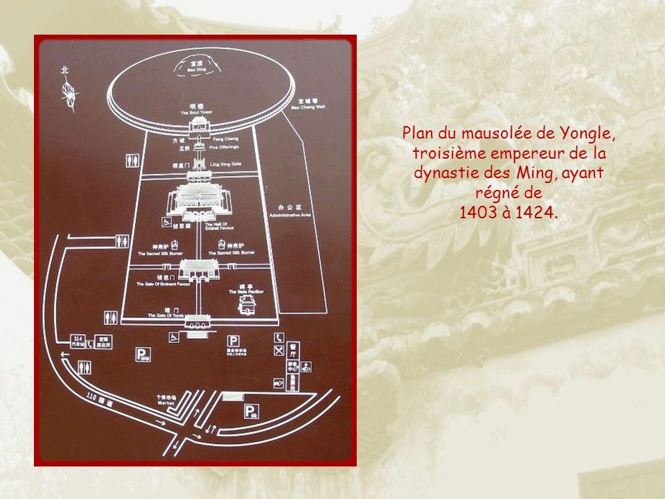 Plan du mausolée de Yongle, troisième empereur de la dynastie des Ming, ayant régné de