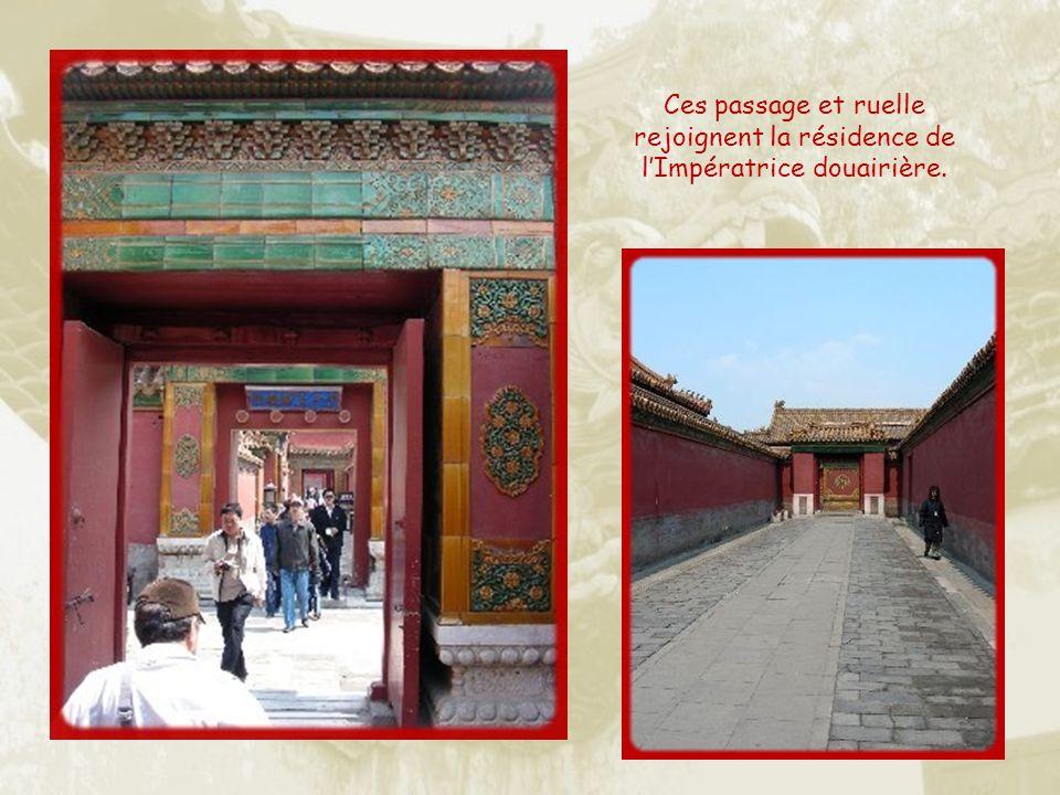Ces passage et ruelle rejoignent la résidence de l'Impératrice douairière.