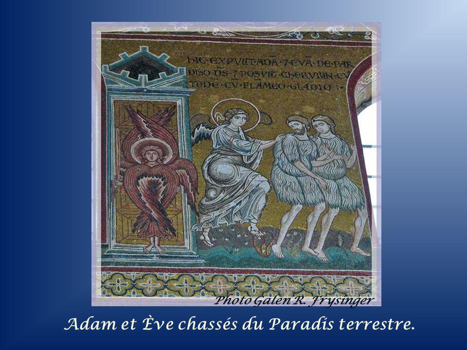 Adam et Ève chassés du Paradis terrestre.
