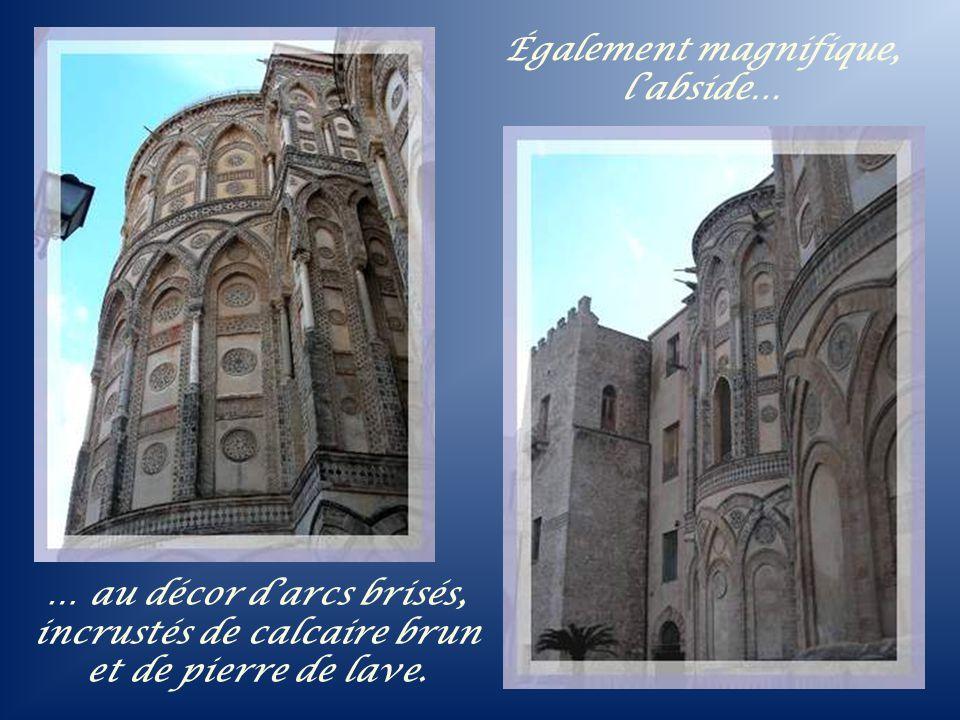 Également magnifique, l'abside…
