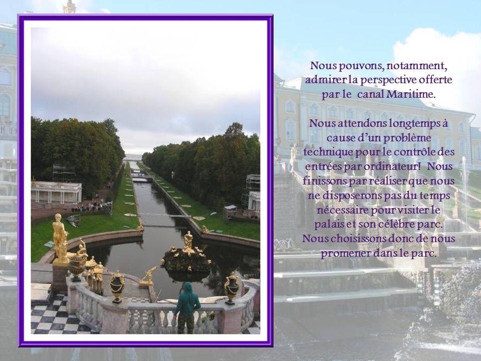 Nous pouvons, notamment, admirer la perspective offerte par le canal Maritime.