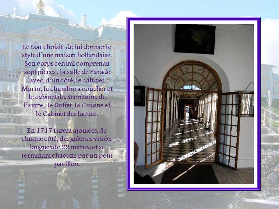 Le tsar choisit de lui donner le style d'une maison hollandaise