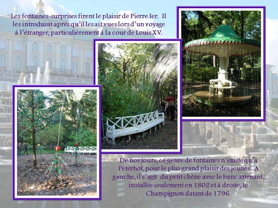 Les fontaines-surprises firent le plaisir de Pierre Ier