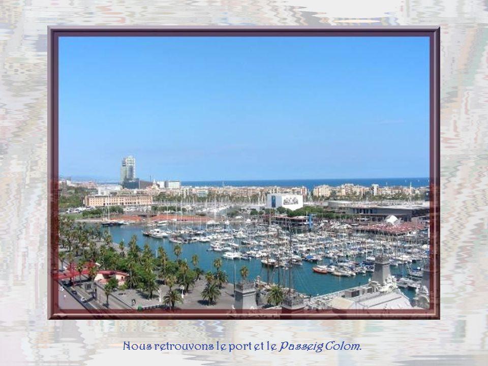 Nous retrouvons le port et le Passeig Colom.