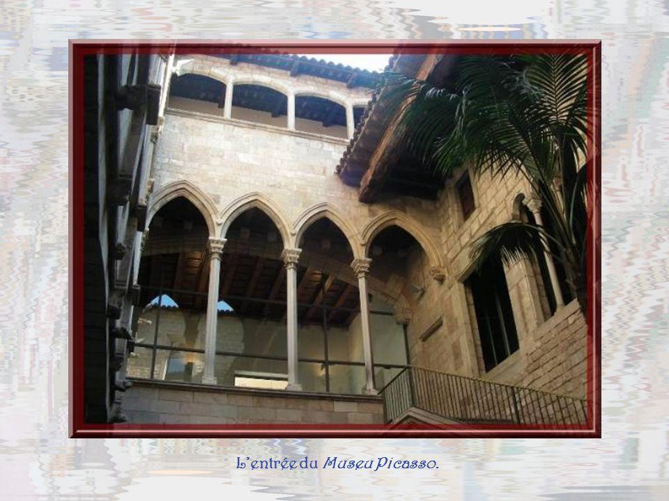 L'entrée du Museu Picasso.