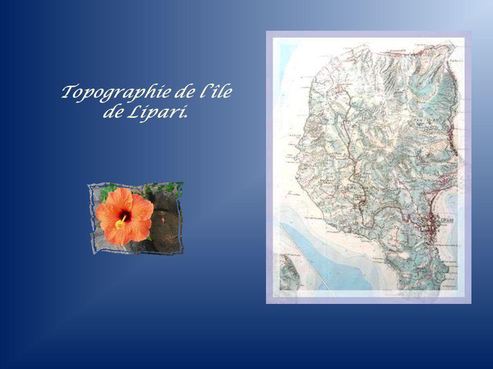 Topographie de l'île de Lipari.