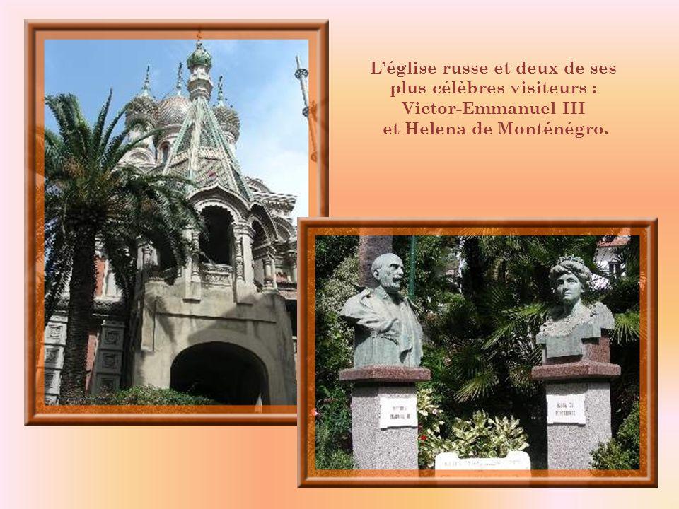 L'église russe et deux de ses plus célèbres visiteurs :
