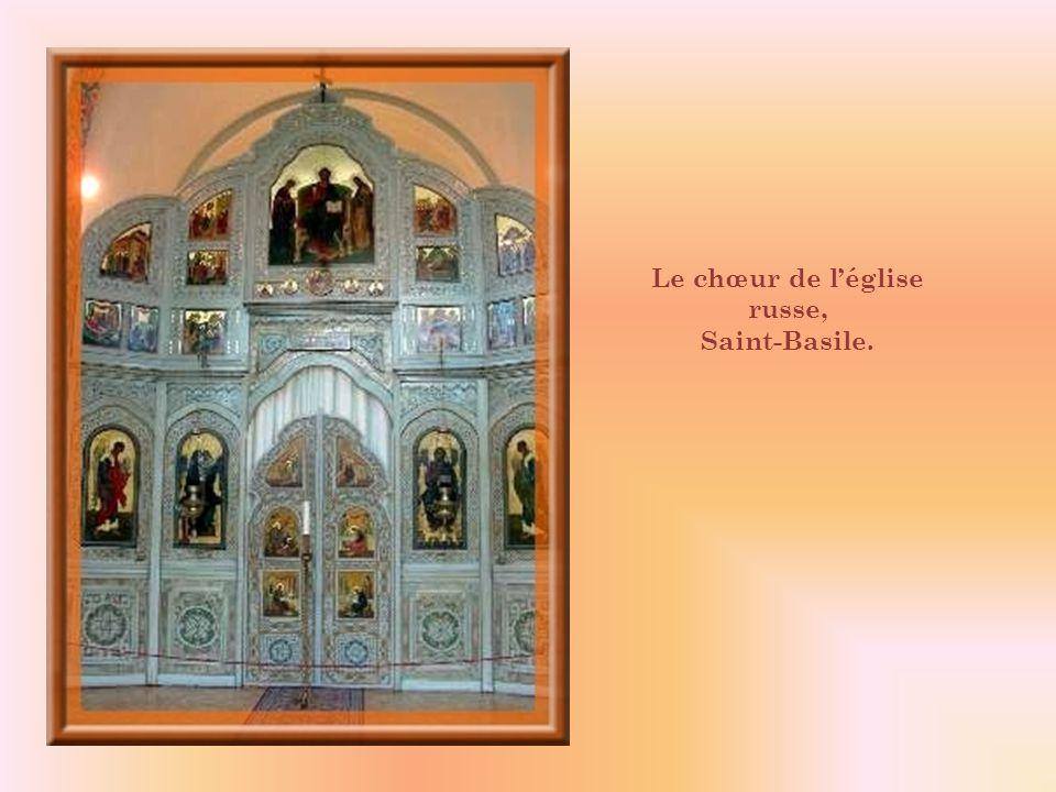Le chœur de l'église russe,