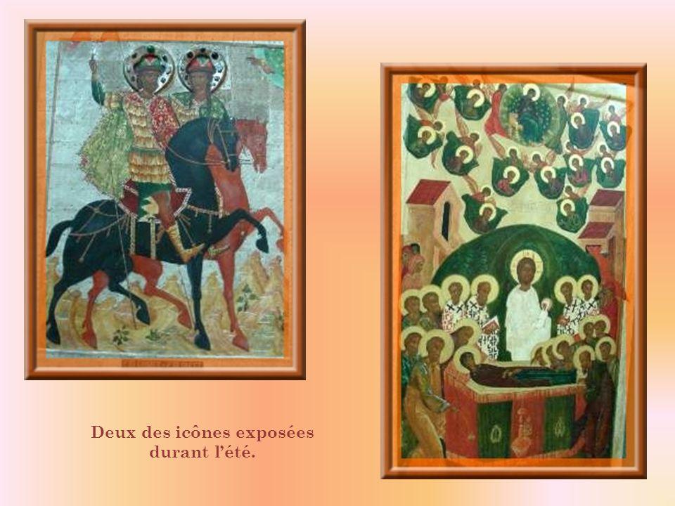 Deux des icônes exposées durant l'été.