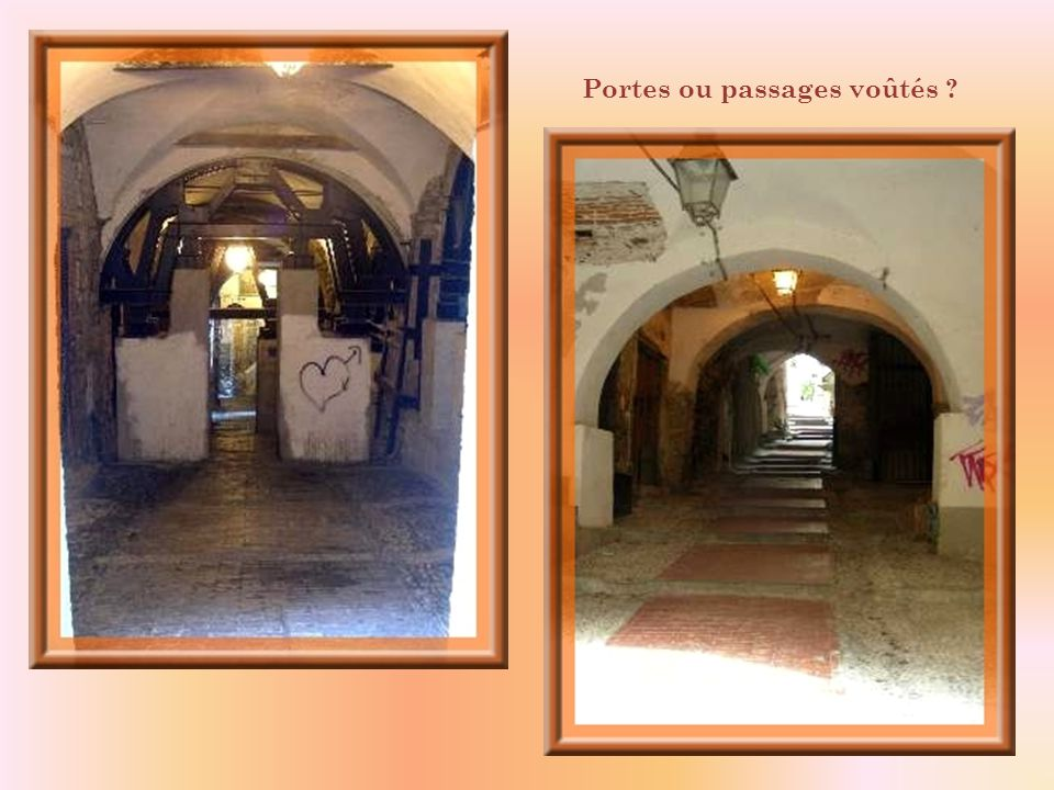 Portes ou passages voûtés