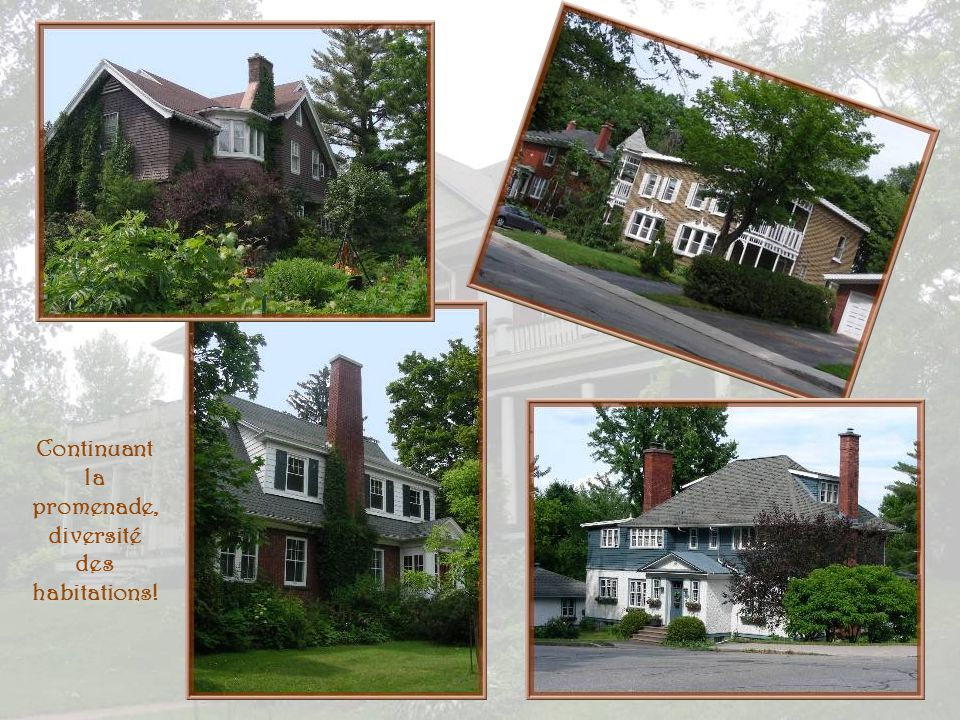 Continuant la promenade, diversité des habitations!