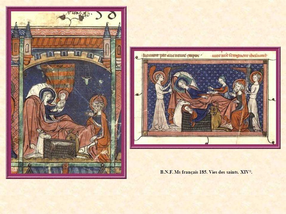 B.N.F. Ms français 185. Vies des saints. XIV°.