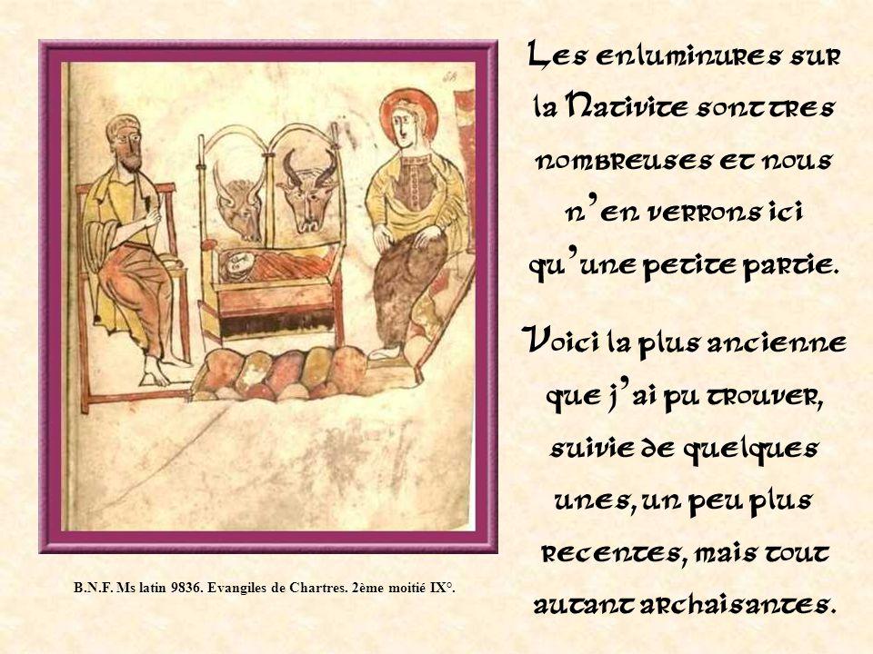 B.N.F. Ms latin 9836. Evangiles de Chartres. 2ème moitié IX°.
