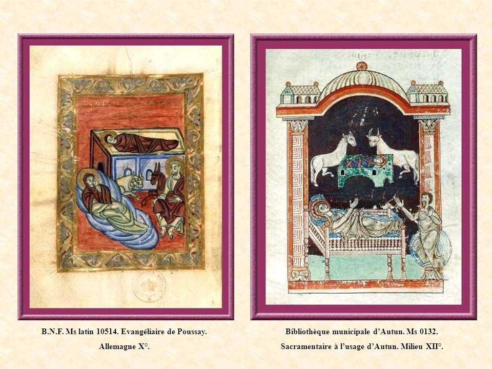 B.N.F. Ms latin 10514. Evangéliaire de Poussay. Allemagne X°.