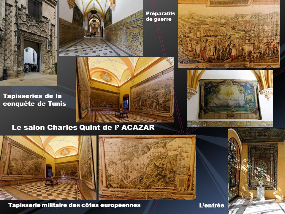 Le salon Charles Quint de l' ACAZAR