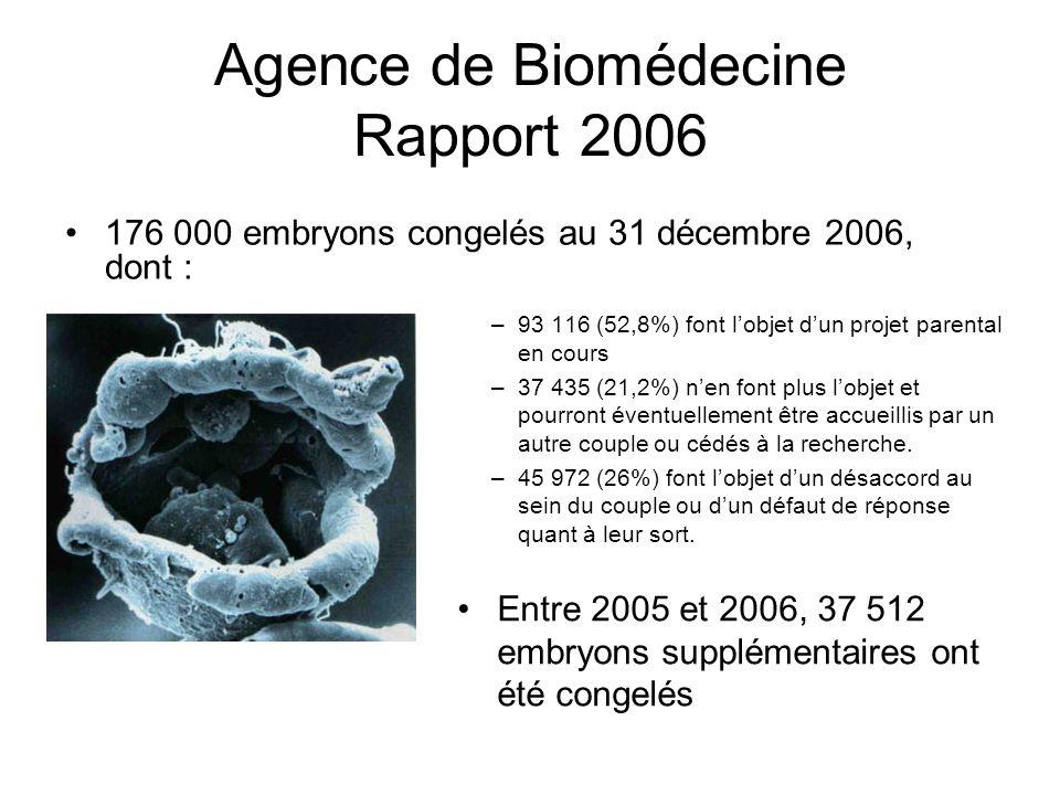 Agence de Biomédecine Rapport 2006