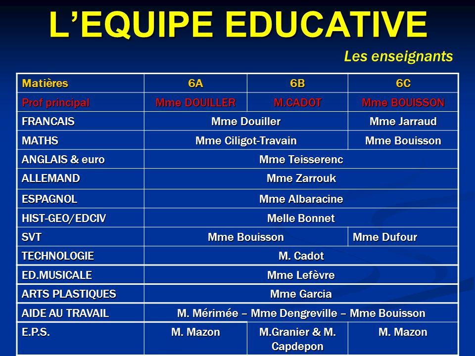 M. Mérimée – Mme Dengreville – Mme Bouisson