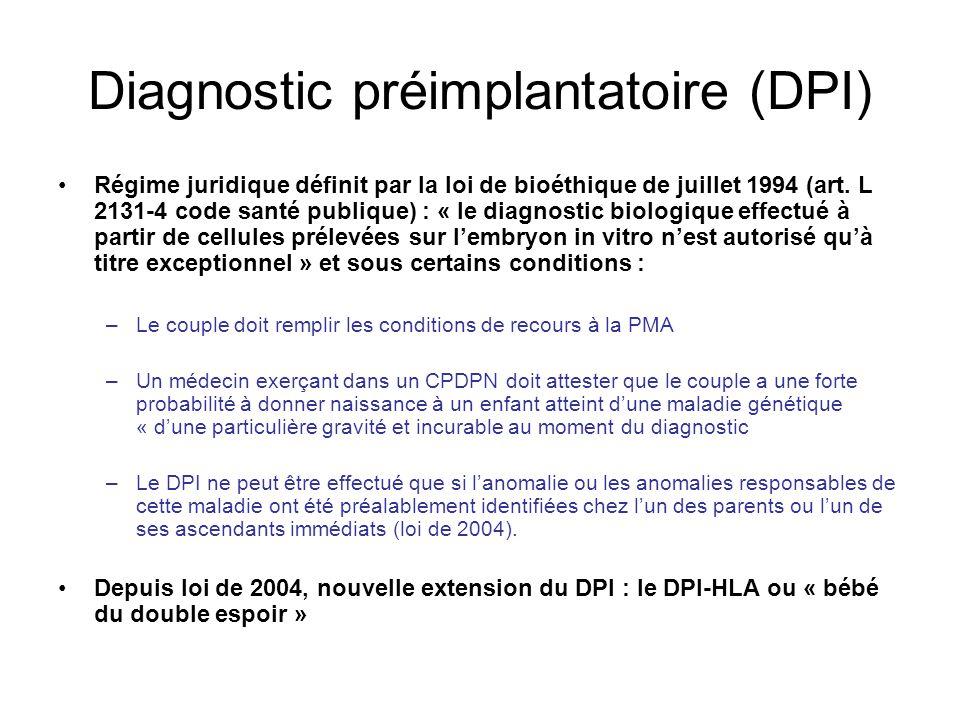 Diagnostic préimplantatoire (DPI)