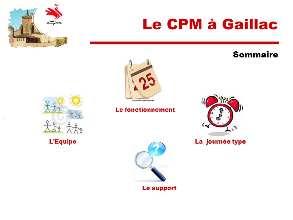 Le CPM à Gaillac Sommaire Le fonctionnement L Equipe La journée type