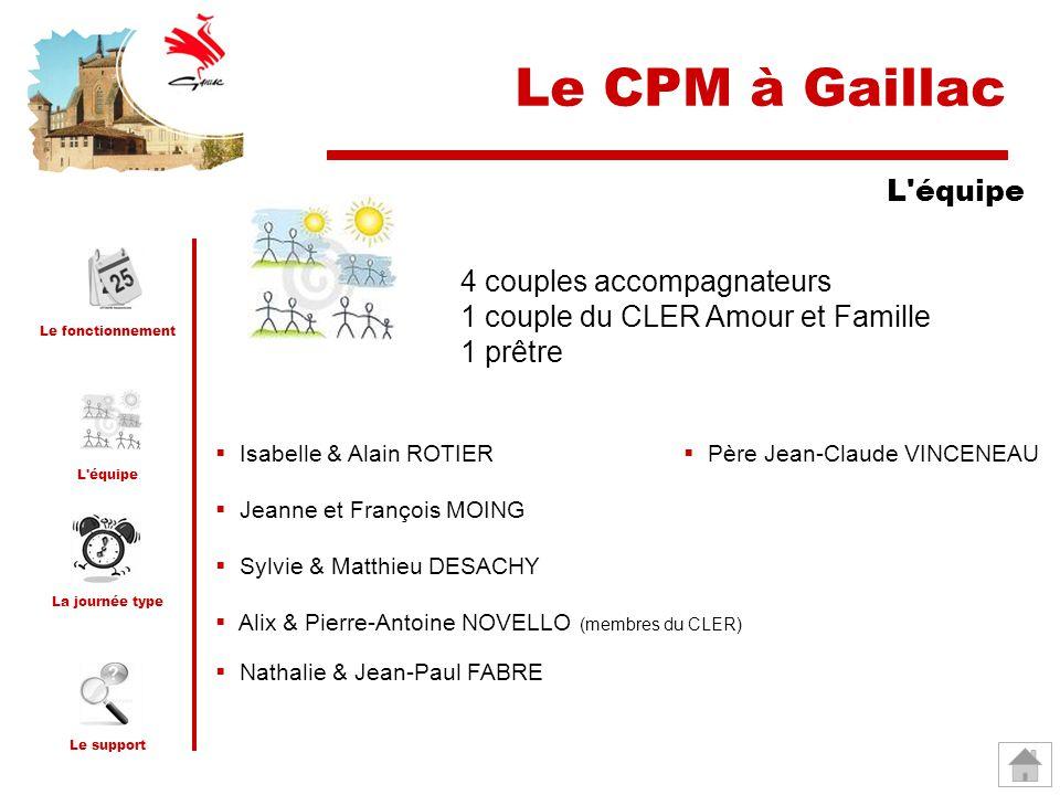Le CPM à Gaillac L équipe 4 couples accompagnateurs