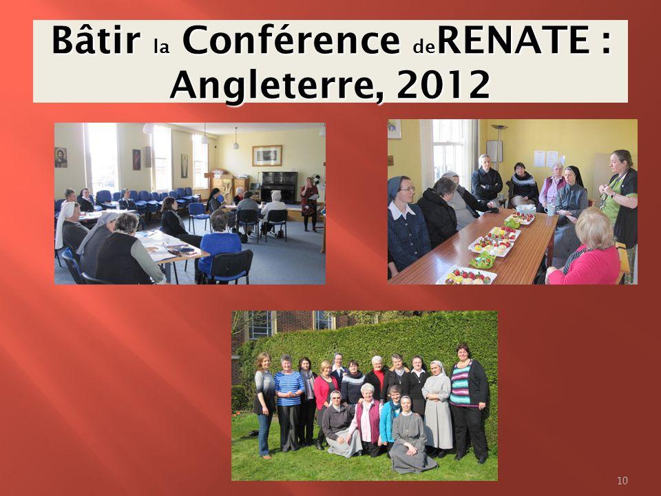Bâtir la Conférence deRENATE : Angleterre, 2012