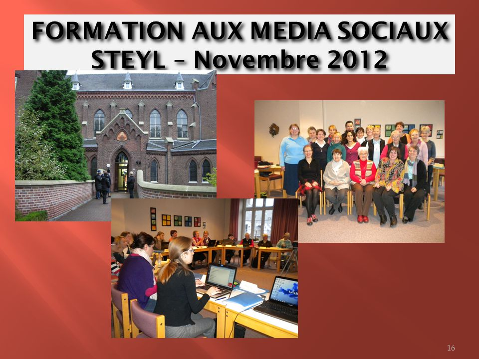 FORMATION AUX MEDIA SOCIAUX STEYL – Novembre 2012