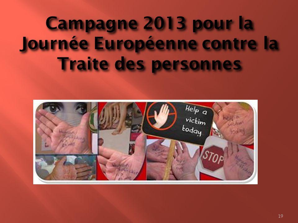 Campagne 2013 pour la Journée Européenne contre la Traite des personnes