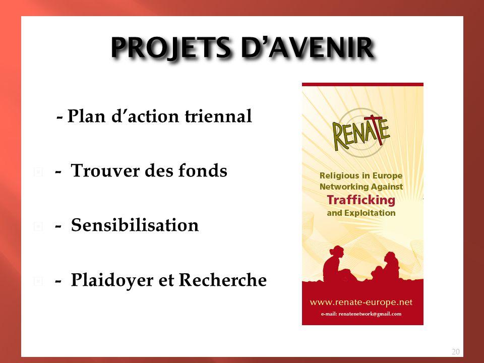 PROJETS D'AVENIR - Plan d'action triennal - Three Year Action Plan