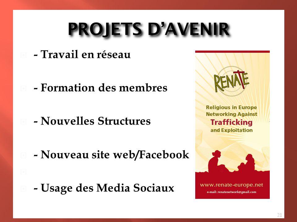 PROJETS D'AVENIR - Travail en réseau - Three Year Action Plan