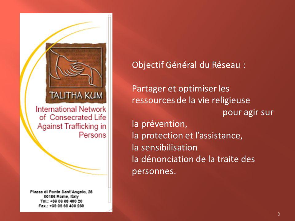 Objectif Général du Réseau :