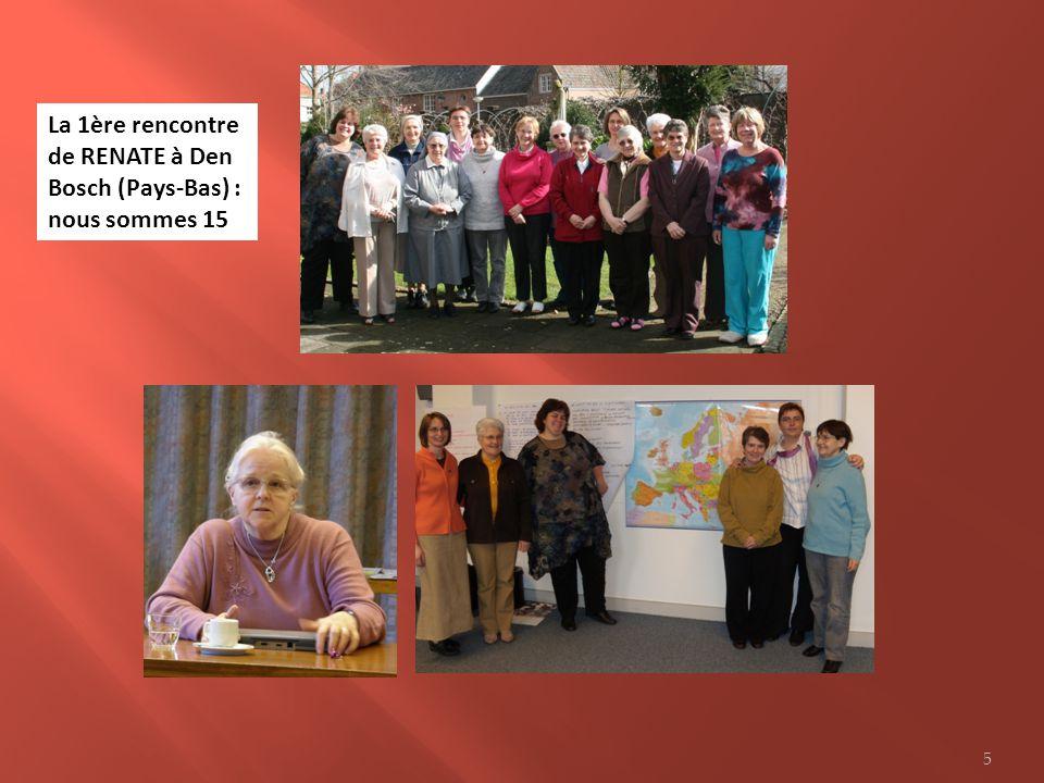 La 1ère rencontre de RENATE à Den Bosch (Pays-Bas) : nous sommes 15