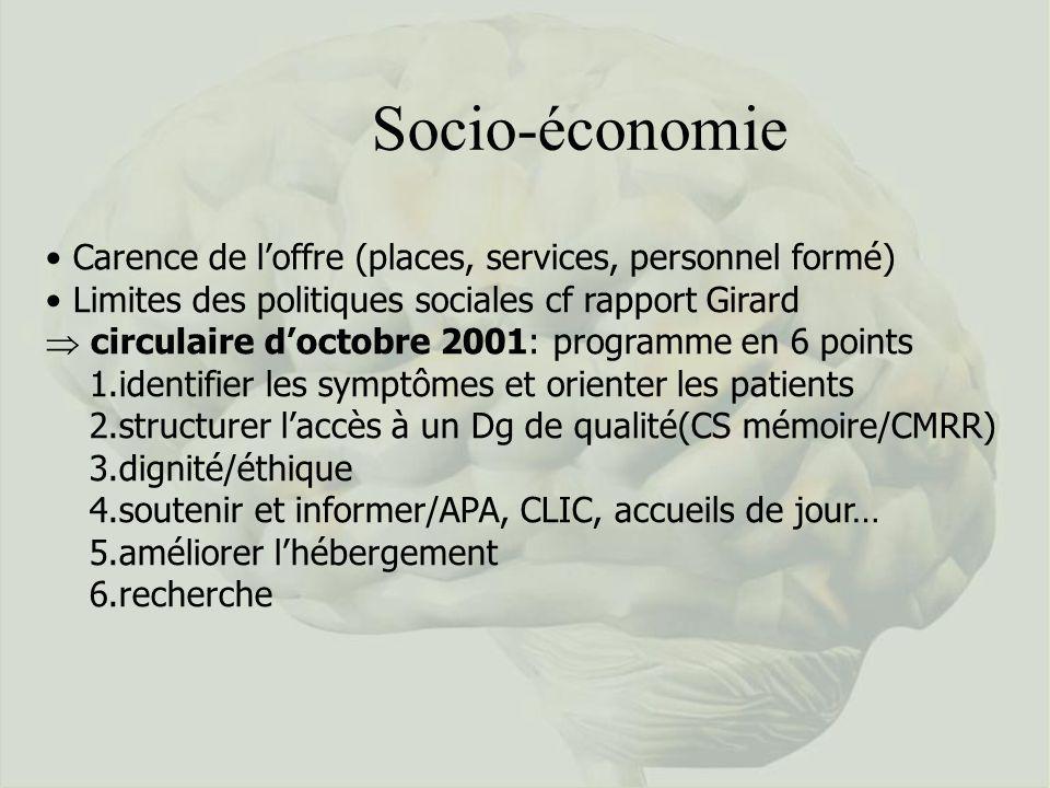 Socio-économie Carence de l'offre (places, services, personnel formé)