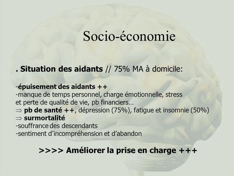 Socio-économie . Situation des aidants // 75% MA à domicile: