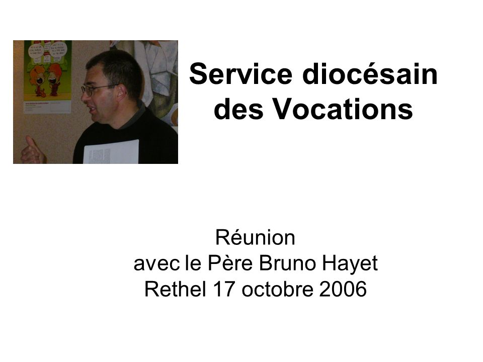 Service diocésain des Vocations