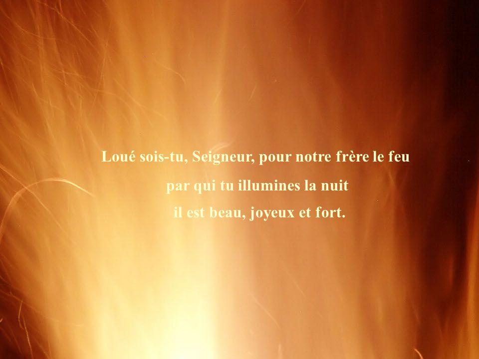Loué sois-tu, Seigneur, pour notre frère le feu