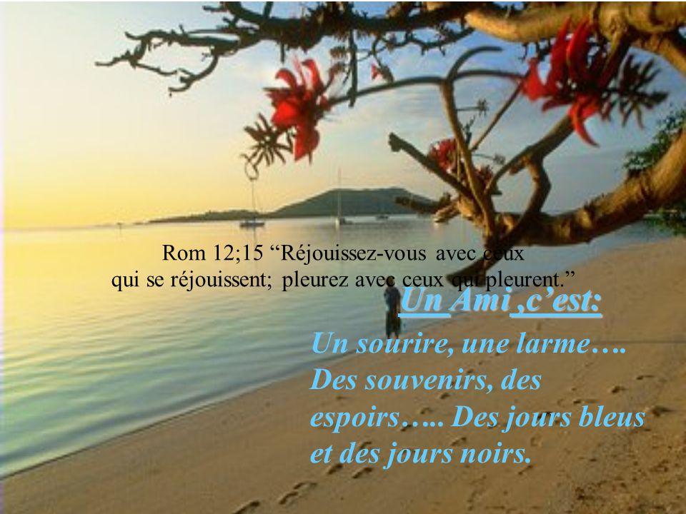 Rom 12;15 Réjouissez-vous avec ceux