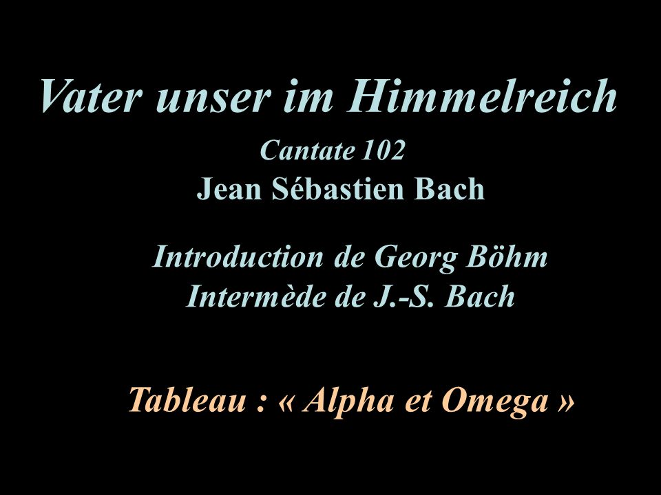 Introduction de Georg Böhm Tableau : « Alpha et Omega »
